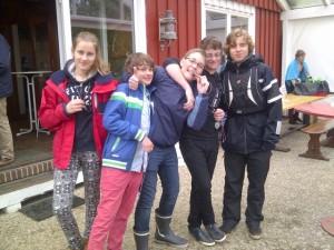 v.l.: Marie, Michel, Yannick, Tobi und Lasse